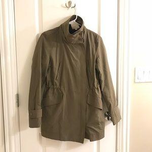 Ann Taylor Loft olive army utility coat jacket
